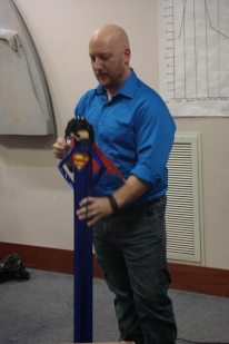 Superman birthday gift to our Director!